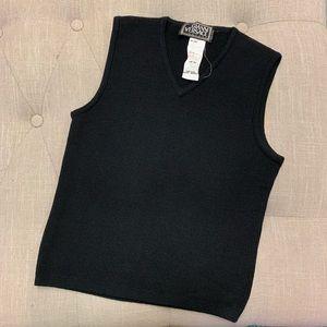Gianni Versace Black Knit Wool Tank Size